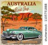 Australia Retro Poster.