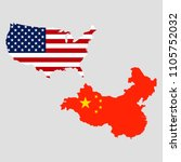usa and china maps | Shutterstock .eps vector #1105752032