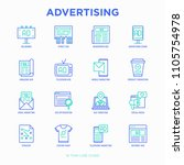 advertising thin line icons set ... | Shutterstock .eps vector #1105754978