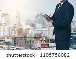 smart  architect   engineer... | Shutterstock . vector #1105756082