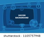 soccer 3d abstract background... | Shutterstock . vector #1105757948