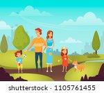 vector illustration of happy... | Shutterstock .eps vector #1105761455