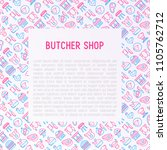 butcher shop concept with thin... | Shutterstock .eps vector #1105762712