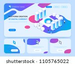 header for website.... | Shutterstock .eps vector #1105765022