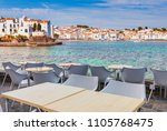 view in cadaques  catalonia ...   Shutterstock . vector #1105768475