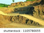 road in stone quarry. descent... | Shutterstock . vector #1105780055
