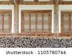 the gate of korean traditional...   Shutterstock . vector #1105780766