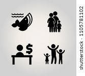 family icon set. happiness ... | Shutterstock .eps vector #1105781102
