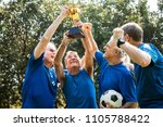 team of mature football players ... | Shutterstock . vector #1105788422
