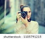portait of woman which is... | Shutterstock . vector #1105791215