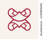 sign of the letter x | Shutterstock . vector #1105805696