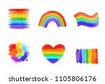 lgbt symbols and signs set... | Shutterstock .eps vector #1105806176