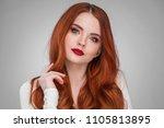 beauty portrait of woman.... | Shutterstock . vector #1105813895