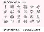 blockchain technology icons....   Shutterstock .eps vector #1105822295