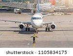 aviation marshall supervisor... | Shutterstock . vector #1105834175