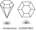 diamond. vector illustration. | Shutterstock .eps vector #1105837862