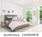 Stock photo  d rendering new modern bedroom in a apartment 1105839878