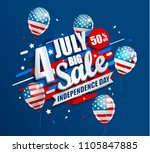big sale banner with balloons... | Shutterstock .eps vector #1105847885