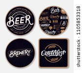 set of coasters for beer with...   Shutterstock . vector #1105853318