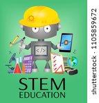 stem education banner with...   Shutterstock .eps vector #1105859672