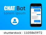 chatbot and future marketing... | Shutterstock .eps vector #1105865972