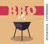 bbq time. hand drawn typography ... | Shutterstock .eps vector #1105866062