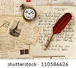 Old Letter And Post Cards With...