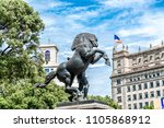 sculpture of a horse in the... | Shutterstock . vector #1105868912
