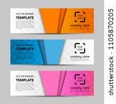 banner background. modern... | Shutterstock .eps vector #1105870205