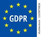 eu gdpr label illustration | Shutterstock .eps vector #1105870826