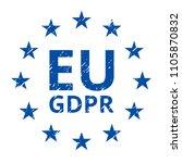 eu gdpr label illustration | Shutterstock .eps vector #1105870832