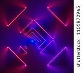 3d render  glowing lines  neon... | Shutterstock . vector #1105872965