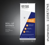 roll up banner design template  ... | Shutterstock .eps vector #1105873745