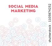 social media icons. social... | Shutterstock .eps vector #1105874252