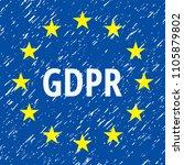 eu gdpr label illustration | Shutterstock .eps vector #1105879802