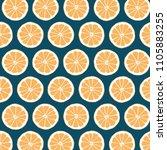 orange citrus slice pattern on... | Shutterstock . vector #1105883255