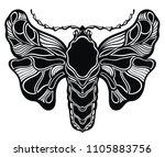 butterfly illustration card   Shutterstock .eps vector #1105883756