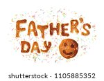 Food Typography Phrase Father'...