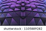 dark blue black abstract 3d...   Shutterstock . vector #1105889282