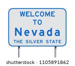 welcome to nevada road sign | Shutterstock .eps vector #1105891862