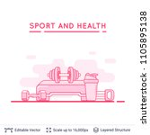 sport and fitness background.... | Shutterstock .eps vector #1105895138