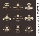 coffee shop logos design... | Shutterstock .eps vector #1105897712