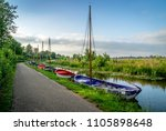 small open sailboats in... | Shutterstock . vector #1105898648