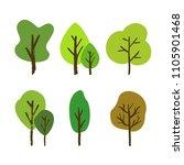 vector hand drawn tree set... | Shutterstock .eps vector #1105901468