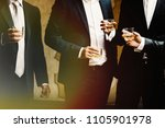 group of friends guys with... | Shutterstock . vector #1105901978