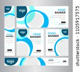 design for web banners of... | Shutterstock .eps vector #1105917575