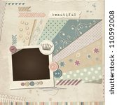 scrap template of vintage worn... | Shutterstock .eps vector #110592008