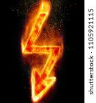 sign of lightning with burning... | Shutterstock . vector #1105921115
