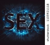 word sex with blue exploding... | Shutterstock . vector #1105921118