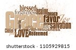 graphic typographic montage... | Shutterstock .eps vector #1105929815